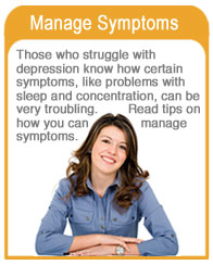 Manage symptoms of depression